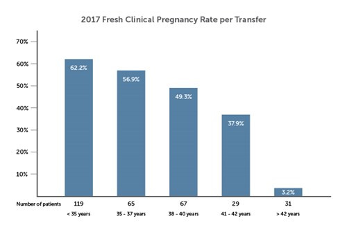 Pregnancy rates graph